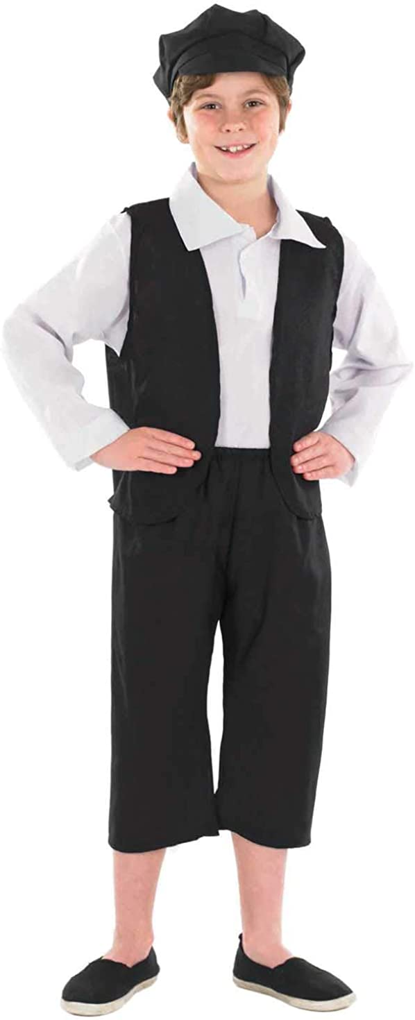 fun shack Kids Victorian Costumes Boys Historical School Victorians Outfit