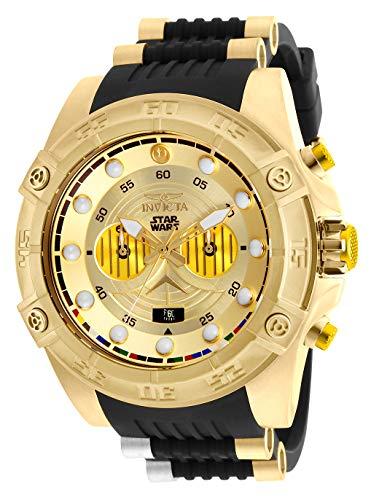 Invicta Men s Star Wars Stainless Steel Quartz Watch with Silicone Strap, Black, 26 Model 26067