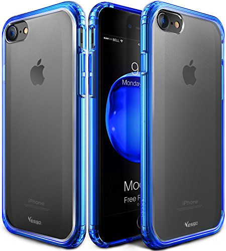 iPhone X Case, iPhone X Edition Case, Yesgo Matte iPhone 10 Case Cover Non-Slip Shock-Absorption Bumper and Anti-Scratch Ultra Slim Case for Apple iPhone X - Matte Blue