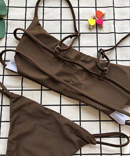 TPulling Damen Sommer Soft Cup﹛Einfarbig Bandage-BH﹜ 4U7oy6mp
