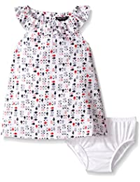 Baby Girls Woven Printed Dress With Ruffle Collar