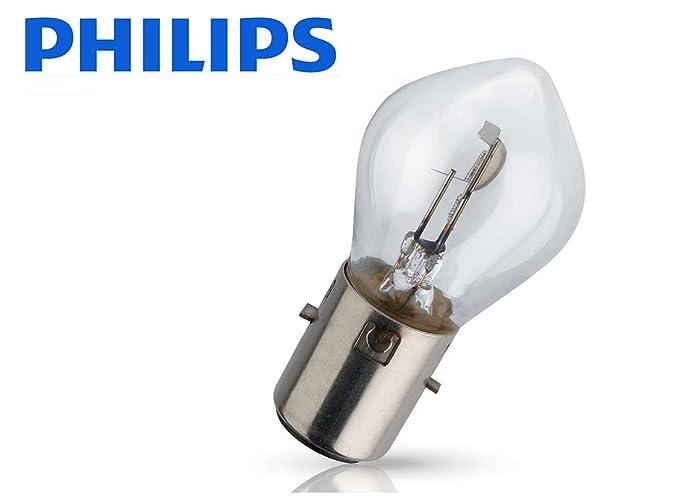 1 BOMBILLA PHILIPS VISION S2 +30% LUZ 12V 35/35W BA20d LAMPARA MOTO COCHE NORMAL MAXIMA CALIDAD 12728C1 HOMOLOGADA: Amazon.es: Coche y moto