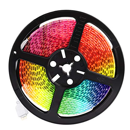 LED Strip Light, Smiler+ Smart Wi-Fi Wireless APP Control 16.4ft Led Light Strip Kit Multi-Color RGB Rope Light for iOS Android and Alexa