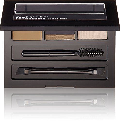 Maybelline Brow Drama Pro Eyebrow Palette, Blonde, 0.1 oz.