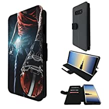 002671 - Awesome American Football Player Helmet Sports Design Samsung Galaxy Note 8 Credit Card Flip Case Purse pouch Stand Cover