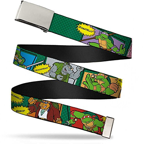 Belt Kids Classic (Buckle-Down Big Web Belt Ninja Turtles, Classic Tmnt Character Comic Scenes, 1.0