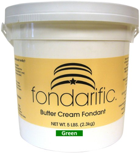 Fondarific Buttercream Green Fondant, 5-Pounds by Fondarific (Image #1)