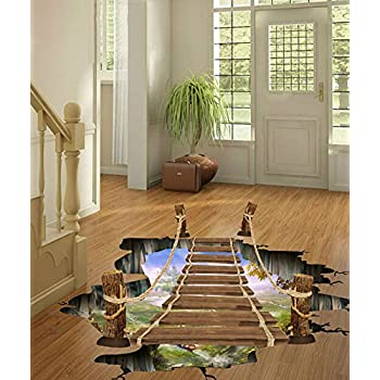 3D Self-adhesive Mural Arts Decals Wall Stickers for Room Stair Nursery Decor Ceiling Floor Sticker 24x35 inches