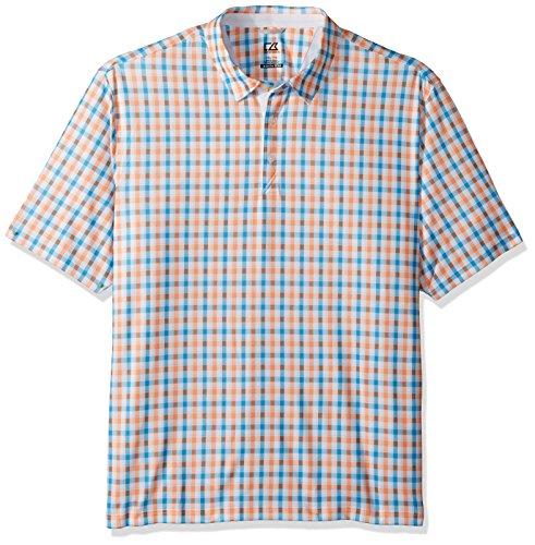- Cutter & Buck Men's Moisture Wicking Drytec UPF 50+ Print Jersey Polo Shirt, Multi-1, XX-Large