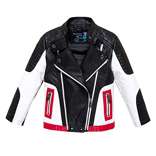 - Budermmy Boys Leather Motorcycle Pilot Jackets Toddler Coats Black Size 3T