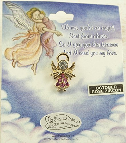 (Cathedral Art AT80010 October Rose Birthstone Angel Pin)