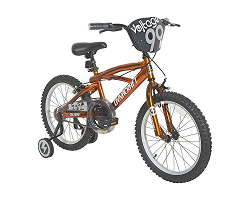 "Dynacraft Boys Voltage Bike, Orange/Black, 18"""