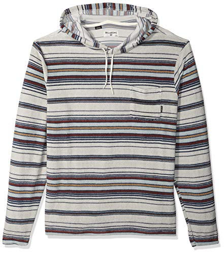 - Billabong Men's Flecker Ensenada Pullover Hoodie Silver Small