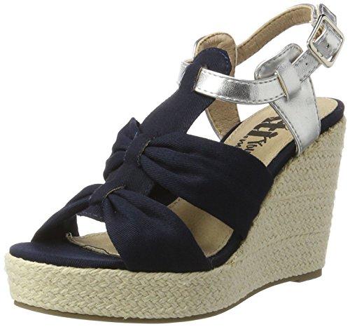 XTI Damen Ladies Sandals Plateausandalen, Blau (Navy), 35 EU