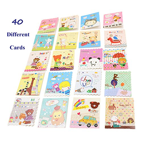 Kids Greeting Card Friendship Notes With Blank Inside All Occasion Thank You Daily Note Cards for Children