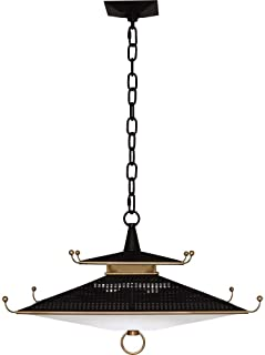 "product image for Robert Abbey 150 Williamsburg Spotswood - 21"" 23W 1 LED Pendant, Deep Patina Bronze/Modern Brass Finish"