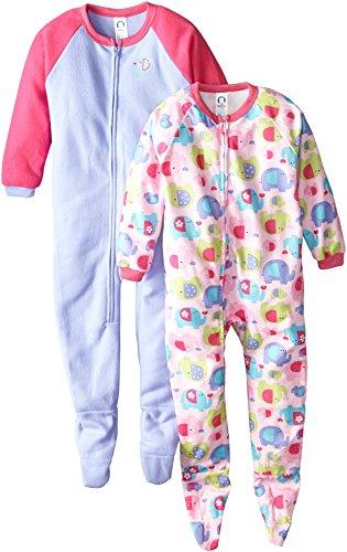 Gerber Little Girls'  2 Pack Girl Blanket Sleeper, Elephant, 5T