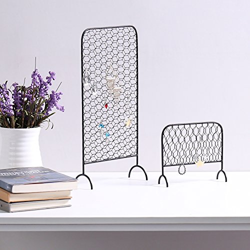 MyGift Metal Chicken Wire Earring Organizer Racks, Set of 2 by MyGift (Image #3)