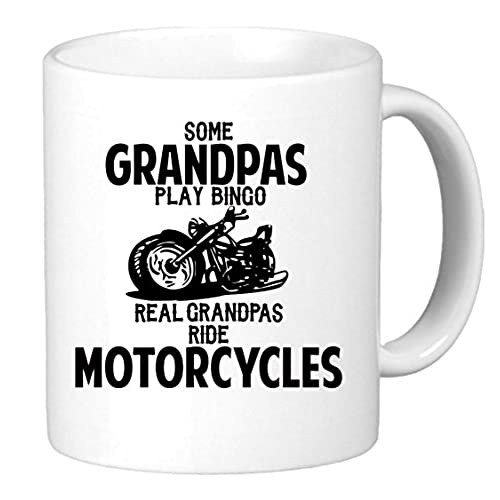 some grandpas play bingo real grandpas ride motorcycles funny unique biker inspired novelty coffee mug cup motorcycle birthday present for grandpa