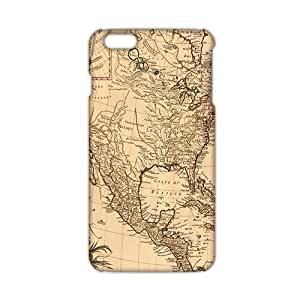 3D Case Cover Map Phone Case for iPhone6 plus