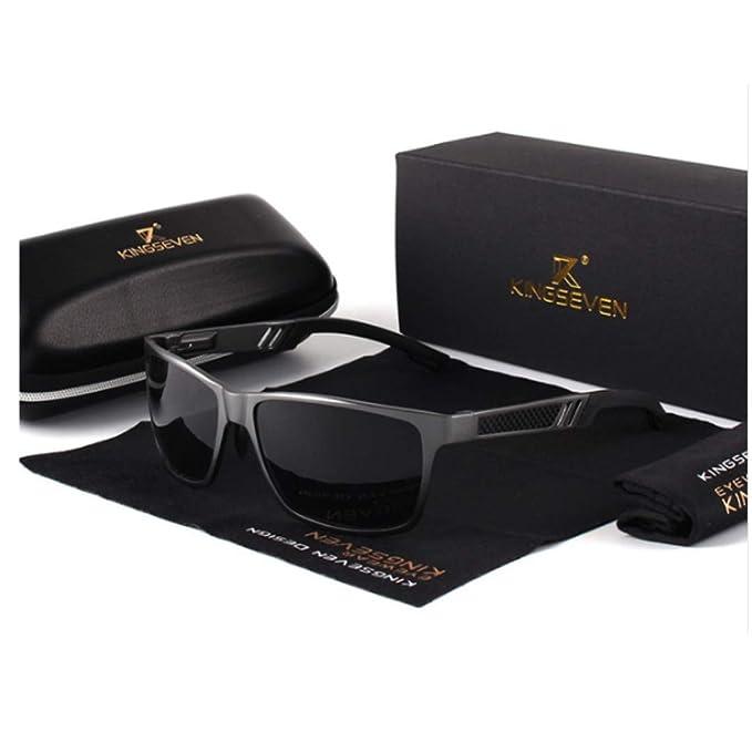 Gafas De Sol Espejo Hombre Polarizadas, gafas de sol clásico cristal negro, gafas de