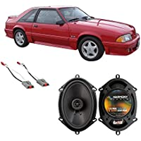 Fits Ford Mustang 1986-1993 Rear Side Panel Factory Replacement Harmony HA-R68 Speakers