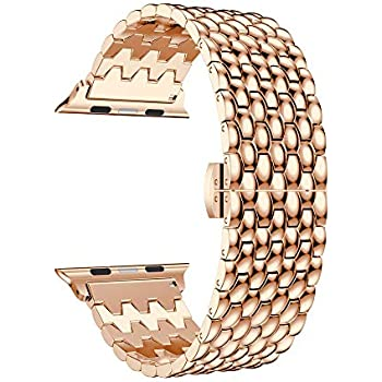 Accessory for Apple Watch Halloween Hot Sale!!Kacowpper Loop Luxury Alloy Link Bracelet Watch Band...