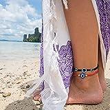 LOYALLOOK 8PCS Evil Eye Bracelet for Women Men