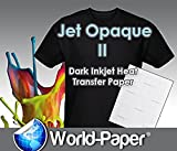 Jet Opaque II Heat Transfer Paper Inkjet for Dark 11'' x 17'' -10 Sheets-