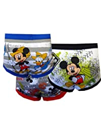 """Mickey Mouse Little Boys' Toddler """"Club Friends"""" 3-Pack Briefs"""