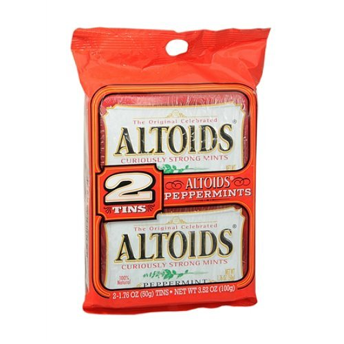 Altoids Twin Pack Mints, Peppermint 2 tins (Pack of 2) by altoids