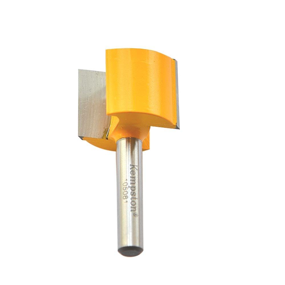 Kempston 105023 Straight Bit w//Bottom Cutter 7//16-Inch Cutting Diameter by 1-Inch Cutting Length Kempston Corporation 1//4-Inch Shank