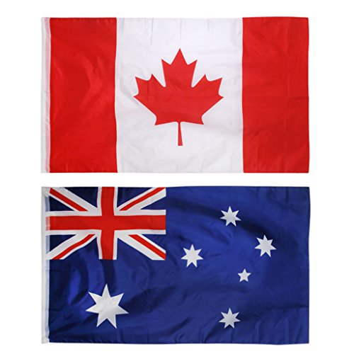 Jili Online 90x150cm / 5x3ft Canada Australia National Lager Banners for Bar Decoration ()