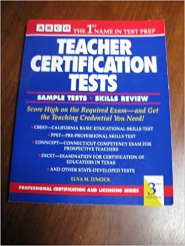 Teacher Certification Tests (Arco Professional Certification and ...