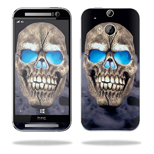 Mightyskins Protective Skin Decal Cover for HTC One M8 wrap sticker skins Psycho Skull