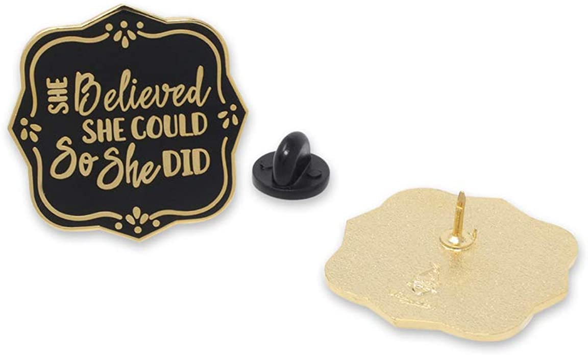 WIZARDPINS She Believed She Could So She Did Female Empowerment Enamel Pin