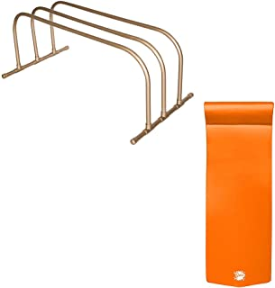product image for TRC Recreation PVC Pool Storage Drying Rack w/ 70 Inch Lounger Float Orange