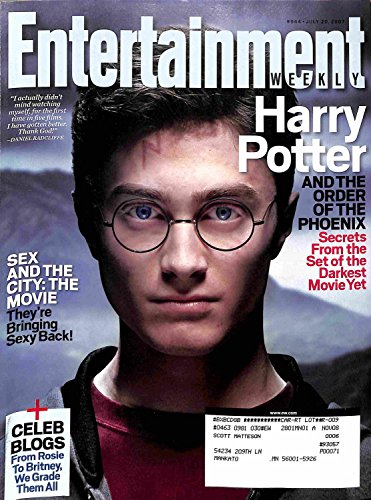 Entertainment Weekly July 20 2007 - Daniel Radcliffe, Harry Potter and the Order of the PHoenix, Sex and The City the movie, Celeb Blogs. ()