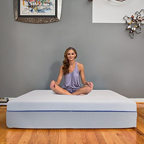 - eLuxurySupply 12 Inch Gel Memory Foam & Latex Innerspring Hybrid Mattress, Made in The USA, Queen