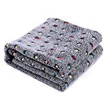 PAWZ Road Pet Dog Blanket Fleece Fabric Soft and Cute Dark Gray XL