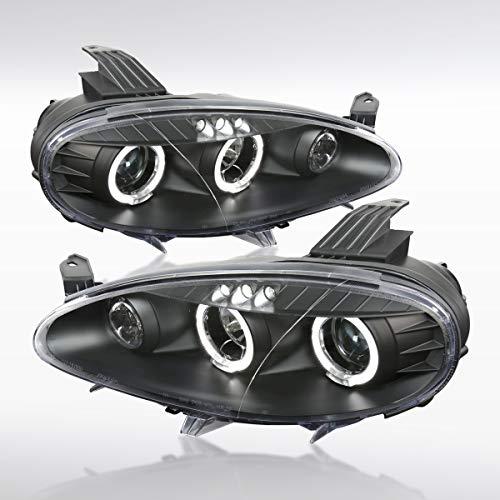 Autozensation For Mazda Miata MX-5 Black LED Halo Projector Headlights (Mazda 3 Halo Headlights)