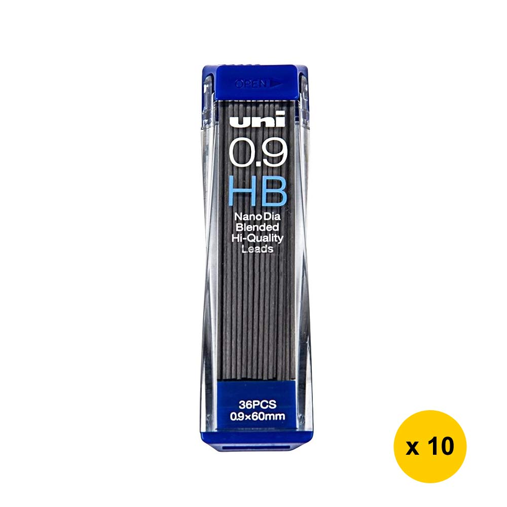 Uni Nano Dia UNI0.9-202ND 0.9mm HB Refill Leads (Pack of 10) (with Sticky Notes) by NewItemExpress (Image #1)