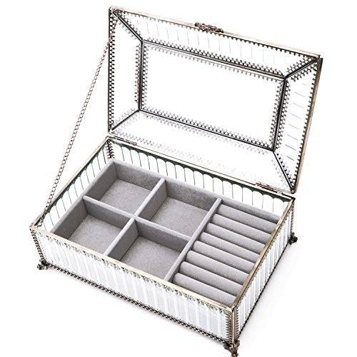 ass Organizer Dresser Top Jewelry Storage Classic Display Drawers (Box Antique Jewelry Display)