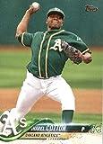 2018 Topps #106 Jharel Cotton Oakland Athletics Baseball Card