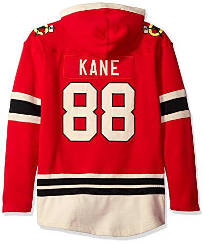 Old Time Hockey NHL Chicago Blackhawks Patrick Kane Women's Player Lacer Name & Number Hoodie, Medium, Red (Best Nhl Players Of All Time)