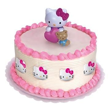 Amazoncom Hello Kitty Cake Topper Party Kit Kitchen Dining