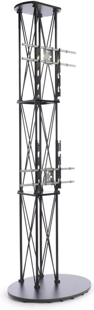 10-Foot-Tall Portable Aluminum Television Stand for (2) 50 inch Monitors - Black 51FnCYFVcWLSL1200_