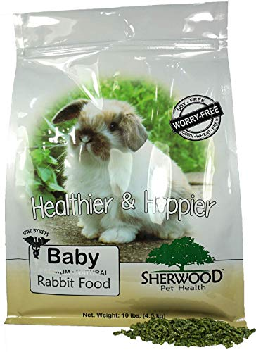 Sherwood Pet Health Rabbit Food, Baby by (Soy, Corn & Wheat-free) -. (Vet Used) (10 lb)