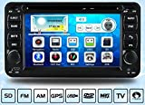 Dectek 6.2 inch GPS Navigation DVD Player for Suzuki Jimny 2006-2014 with Radio RDS Bluetooth A2DP USB SD iPod HD 1080P Video Playback,Come with Preload Map and Backup Camera.