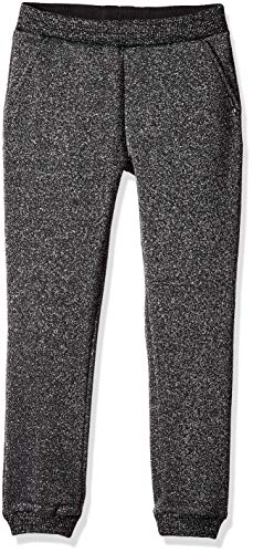 GUESS Girls' Big Scattered Pearl Pull On Jogger, Jet Black a, 16 ()